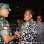 Bupati Sanggau Paolus Hadi didampingi istri, Ny. Arita Apolina menghadiri acara Ramah Tamah Pangdam XII / Tanj...