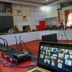 Video Conference Bupati Sanggau Paolus Hadi didampingi Wakil Bupati Sanggau Yohanes Ontot, Sekda Kab. Sanggau ...